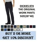 NWT MENS Dickies Original Fit Work Pants(#874) Bottom Sizes(28~40), 9 Colors