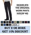 Dickies 874 Original Fit Work Pants Bottom Sizes 28 40 , 9 Colors, NEW NWT