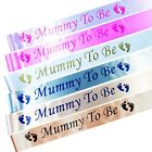 Baby Shower Party Sashes, Mummy To Be Satin Sash Ribbon Pink Blue Gold Peach
