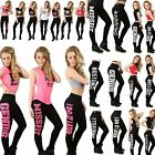 Womens Ladies Girl Love Training Just do it later Printed Miss Slim Fit Leggings
