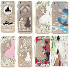 "Ultra Thin Cartoon Princess Transparent TPU Soft Case For iPhone  6 4.7"" / Plus"