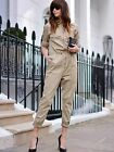 H&m Trend 2015 Beige Twill Jumpsuit All Sizes Available