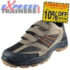 Premier Mens Glensdale Hiker Velcro Outdoor Hiking Walking Shoes Brn *AUTHENTIC*