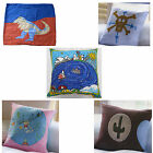 Children Boys Girls Super Cute Cushion Cover - Cowboy Mermaid Dinosaur Pirate