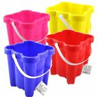 LargeRhodos Beach/Sand Castle  Bucket Pink Blue Yellow Red First Class Post