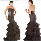 jovani  couture  Tiered ruffles and pleated gown msrp$987 authentic$299 vgowns1