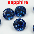 sapphire crystal Brilliant cuts Round cubic zirconia beads stone for jewelry DIY