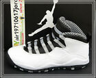 Nike Air Jordan 10 X GS Steel White Black Grey 310806-103 US 4~7Y AJ10 NIB 1 2 3