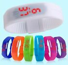 Women Girl Men Jelly Rubber LED AUTO Date Bracelet Touch Digital Sports Watch