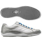 CloseOut Womens FootJoy LoProCasuals 97238 Sil/Blue WaterProof Leather Golf Shoe