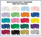 PARTY TABLEWARE - Plates/Cups/Napkins/Tablecovers/Bags/Balloons - Many Colours