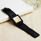 US Stock Leather Multi-Touch Wrist Strap Watch Band for iPod Nano 6th Generation