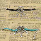 New Handmade Dream catcher Charms Bracelet  Natural stone Alloy feather pendant