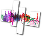 City Shanghai Abstract MULTI CANVAS WALL ART Picture Print VA