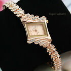 Hot Luxury Bracelet watch Alloy Crystal Quartz Rhombus Wrist Watch Women 1Pcs