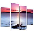 MSC016 Milky Water Sunset Canvas Wall Art Multi Panel Split Picture Print
