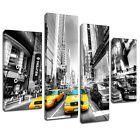 MSC095 New York Taxi Black White Canvas Wall Art Multi Panel Split Picture Print