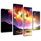 MSC187 Star Gazing Galaxy Canvas Wall Art Multi Panel Split Picture Print