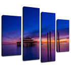 MSC205 Brighton Pier Blue Sky Canvas Wall Art Multi Panel Split Picture Print