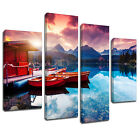MSC391 Sunshine Lake Sky Canvas Wall Art Multi Panel Split Picture Print