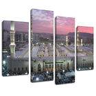 MSC418 Mecca Madina Holy Land Canvas Wall Art Multi Panel Split Picture Print