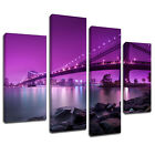 MSC424 Brooklyn Bridge New York Canvas Wall Art Multi Panel Split Picture Print