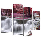 MSC446 Purple Waterfall Tide Pool Canvas Art Multi Panel Split Picture Print