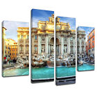 MSC459 Trevi Fountain Rome Canvas Wall Art Multi Panel Split Picture Print
