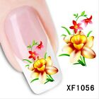 Nail Wraps Nail Art Decals Water Transfers Butterfly French Nail Tips 1056