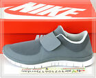 Nike Free Socfly Cool Grey White Velcro 724851-002 US 8.5~11 Trainer NSW 1