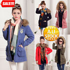 Mode Women's Jacket Trench Parka Winter Warm Coat Overcoat Casual Slim Fit