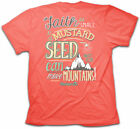 Christian Kerusso Cherished Girl  MUSTARD SEED FAITH Womens T-Shirt BRAND NEW