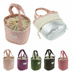 Waterproof Thermal Insulated Dots Lunch Bag Tote Carry Storage Picnic Pouch Bag