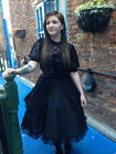 Goth-Cosplay-LARP-Comicon-Whitby-BLACK LACE LOLITA GOTH DOLL DRESS SIZE-Bra Area