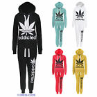 LADIES ADDICTED PRINT TRACKSUIT WOMENS JOGGING HOODIE BOTTOMS TOP SIZES 8 -14