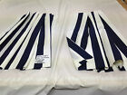 B/N Boat Curtains, motorhome, caravan etc, Navy/ off white, lined 2 size choices