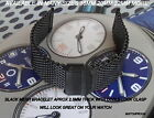 BLACK MESH BRACELET BAND METAL STRAP WILL LOOK GREAT ON YOUR CHRISTOPHER WARD