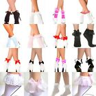 SEXY FASHION FRILL OPAQUE FRILLY LACE TRIM BOW SHORT ANKLE SOCKS DANCE FLIRT NEW