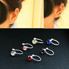 1 Pair/2pcs Fashion Women Clip On Body Crystal Rhinestone Earring Ear Cuff Stud