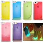 Glow in the Dark Noctilucent Powder Liquid Bubble Hard Case For Apple iPhone 5 6