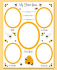 Bumble Bee Premade Scrapbook Layout Page Baby Girl Shower Gift Wall Art Print
