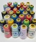 12 Big Spools Sewing Thread Polyester ASSORTED COLORS 2400 yards each Spool NEW