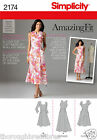Simplicity 2174 Sewing Pattern Princess Dress Pockets Cup Size Ladies Size 6-24
