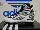 NEW ADIDAS Filthyquick 2.0 Mid Youth Football Cleats - White/Black;  S85607