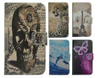 For LENOVO High-level PU Leather Phone Case Cover Printed Skull
