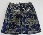 GAP Men's Blue Hibiscus Pattern Swim Trunks Size L