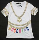 20025 Love 2015 Lady's Bronzing chain printed Embroidery moschino logo T-shirt