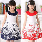 Girl kids Outfits Cotton Floral Casual Princess Dress Doll Collar A-line Dresses