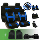 Flat Cloth Car Seat Covers with Floor Mats and Accessories