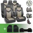Synthetic Leather Car Seat Covers w. Floor Mats and Accessories <br/> #1 Best Seller on eBay. Over Thousands Sold Top Quality
